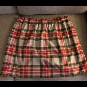 J. Crew lined plaid skirt like new condition!